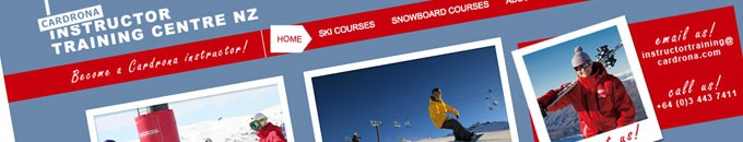 Cardrona Instructor Training Centre homepage