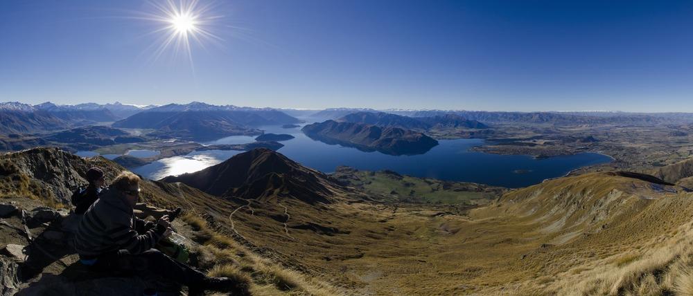 A panorama taken from Roys Peak