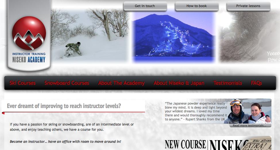 New Website for Niseko Academy