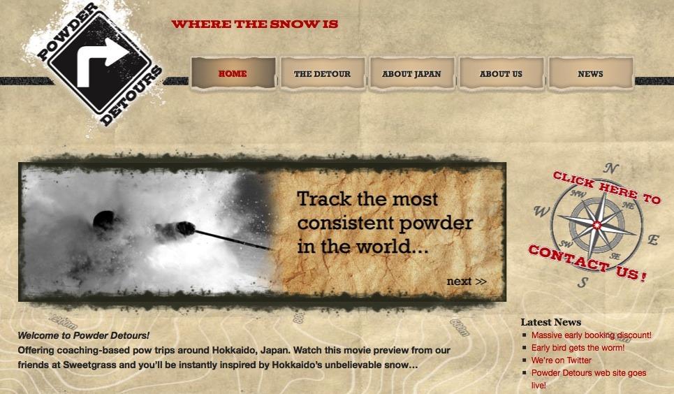 Powder Detours website preview