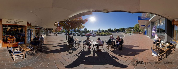 Panorama of Relishes Cafe in Wanaka