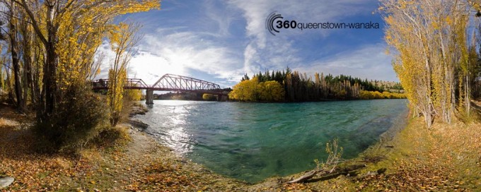 Panorama of Upper Clutha River, Otago