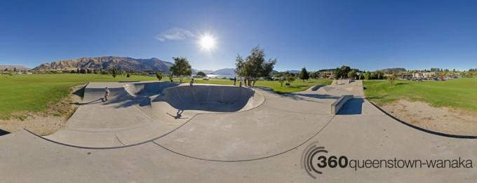 Wanaka skate park panorama