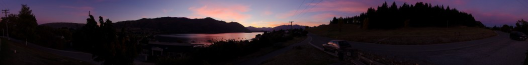 Sunset panorama for 360queenstown-wanaka