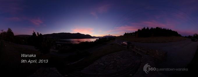 Sunset panorama for 360queenstown-wanaka