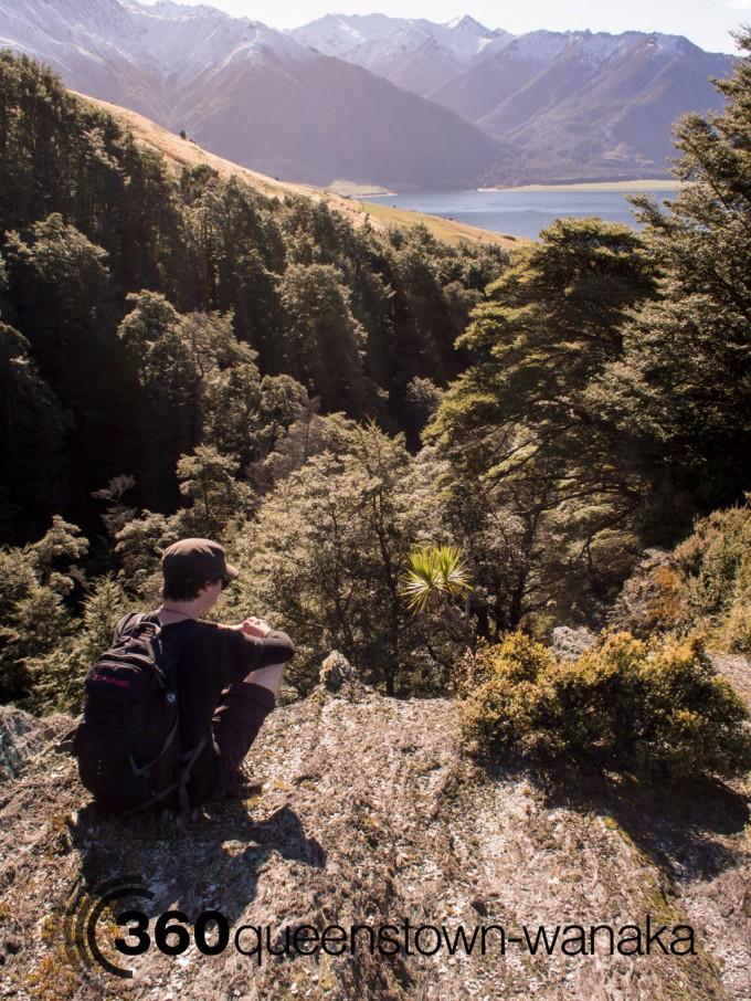 isthmus peak view over lake hawea