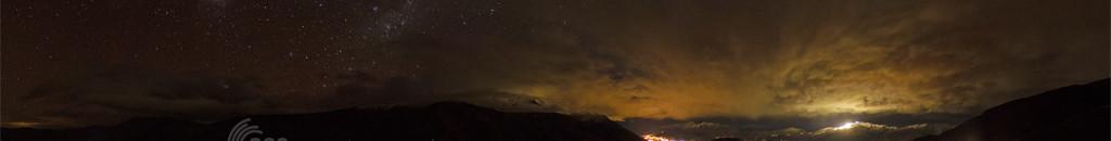 Night time panorama overlooking Queenstown