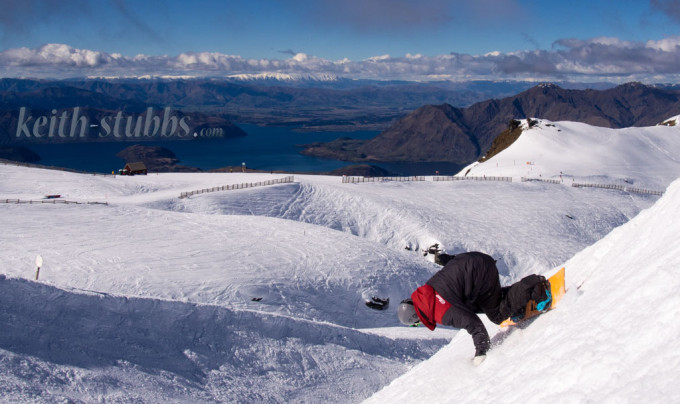 Riding banks at Treble Cone