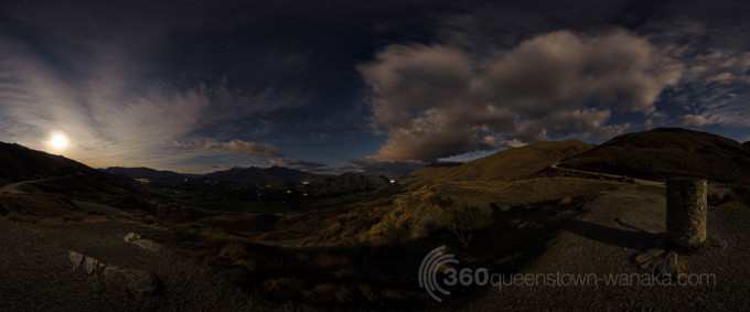 360 panorama at Skipper's Lookout in Queenstown
