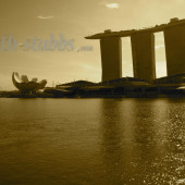 Marina Bay... a cruise liner shaped hotel and a lotus shaped museum