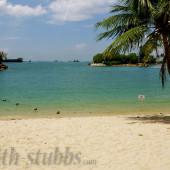 The beaches on Sentosa Island