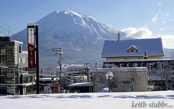 Mt Yotei from Hirafu Village - by Keith Stubbs