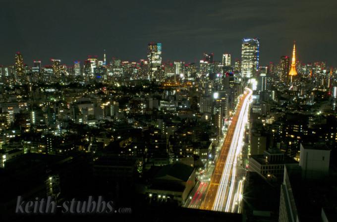 Shibuya Tokyo skyline at night