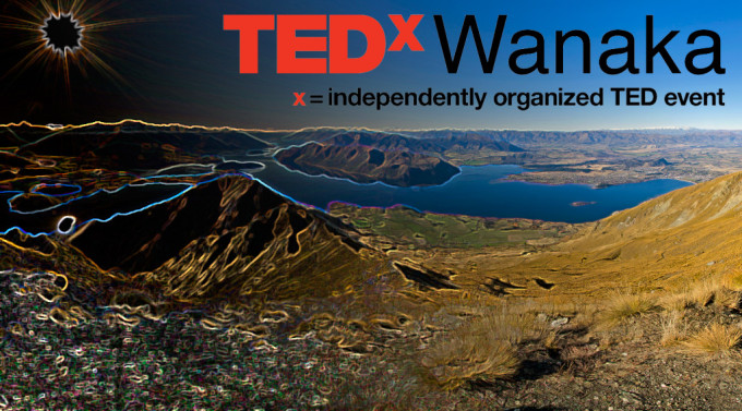 Homepage graphic for TEDxWanaka website
