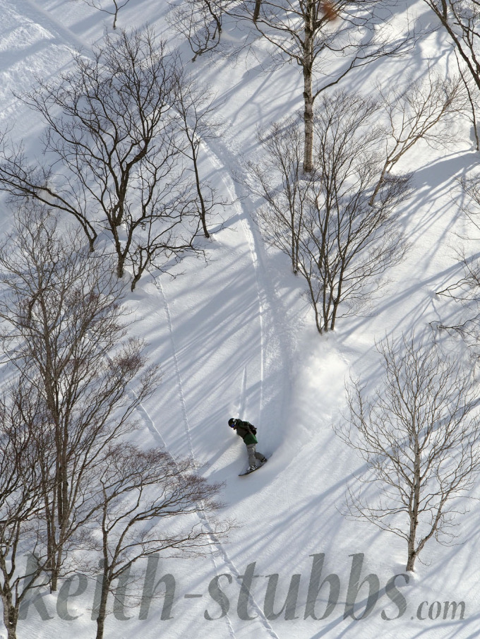 Richie Johnston in the Niseko backcountry
