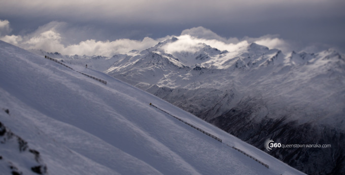 Moody mountains from Treble Cone ski resort