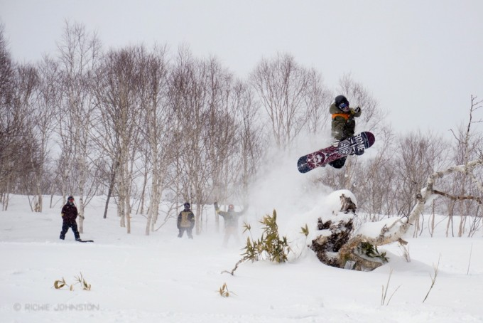 Method by Keith Stubbs, snowboarding in Hokkaido Japan