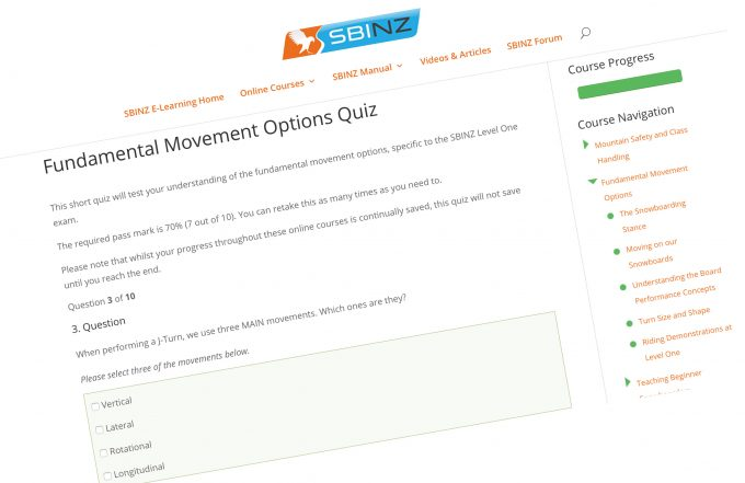 A quiz created around Fundamental Movement Options